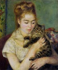 woman with a cat pierre auguste renoir art for at toperfect gallery the woman with a cat pierre auguste renoir oil painting in factory
