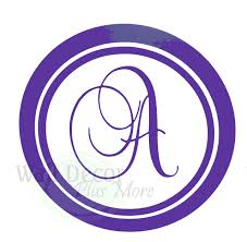 monogram letter stickers personalized monogram letter wall stickers vinyl decals custom graphic