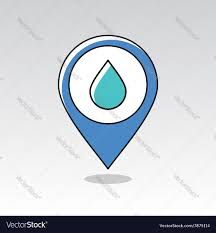 Map Icon Water Rain Drop Pin Map Icon Meteorology Weather Vector Image