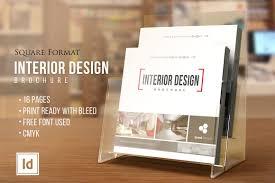 interior design u2022 square brochure u2022 brochure templates