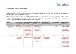 100 risk management form template 1 events filming risk