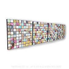 napkins decoupage mosaic on canvas long vertical abstract art