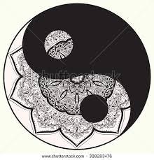 ornament card mandala yin yang geometric stock vector 306181403