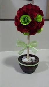 Paper Rose Topiary - paper flower topiary paper flowers pinterest kvetina a