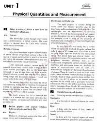9th class physics notes unit u20131 physical quantities u0026 measurement
