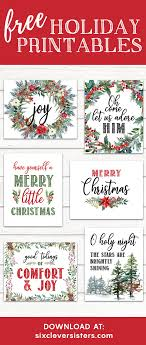 merry christmas signs 6 free printable christmas signs six clever