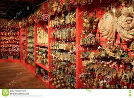 vast array of ornaments on display in the store