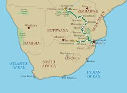 Map Of Southern Usa by Southern Cross U2013 Northbound U2013 Shongololo Express