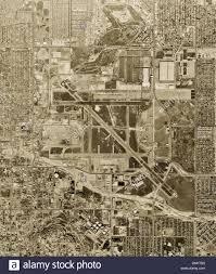 Long Beach California Map Historical Aerial Photograph Long Beach Airport California 1963