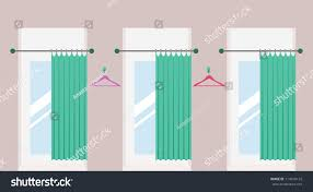 Fitting Room Curtains Row Vacant Fitting Rooms Open Curtains Stock Vector 714610132