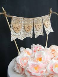 love cake topper burlap u0026 lace cake topper banner flags bunting