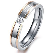 couples wedding bands titanium steel promise ring wedding bands matching set