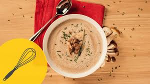 thanksgiving soup recipes creamy vegetarian mushroom soup with porcini and button