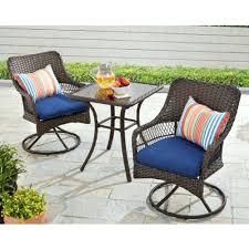 Garden Treasures Bistro Chair Patio Ideas Garden Treasures Skytop 2 Count Black Steel Swivel