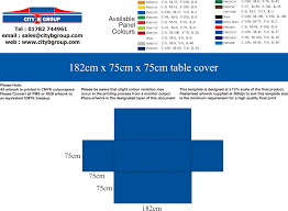 6ft Table Cloth plain or custom printed branded table covers cloths city b group uk