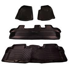 automaze laminated odourless premium black 4d car floor mats