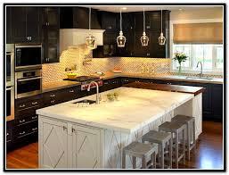 espresso kitchen island espresso kitchen cabinets with white island kitchen island ideas