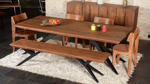 solid wood dining table dining room industrial with acacia dining