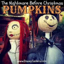 disney sisters jack skellington pumpkins at disneyland halloweentime