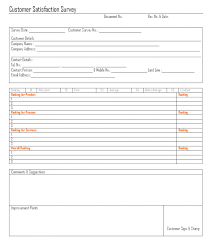customer survey template word spreadsheet fee saneme