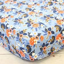 Navy And Coral Baby Bedding Crib Sheet Baby Crib Sheets Rosenberry Rooms