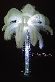 ostrich feather centerpieces deluxe ostrich feather diamond dangle chandelier with stand