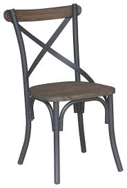 metal and elm side chair black industrial dining chairs by