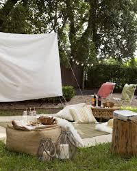 setup a backyard movie night image with fabulous backyard movie