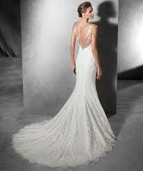 robe de mari e dentelle sirene robe de mariée sirène en mousseline et dentelle avec dos nu modèle