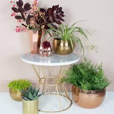 hammered copper plant pots planters audenza