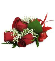 Red Rose Corsage Rose Trio Wrist Corsage London On Florist