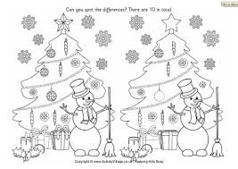 christmas find the differences puzzles for kids