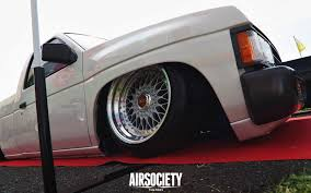 bagged nissan hardbody nissan d21 hardbody bbs rs bagged air ride stance airsociety 006
