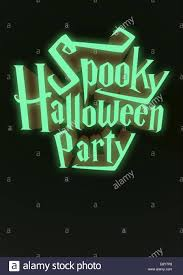 spookyt halloween background spooky halloween party glowing neon letters 3d for poster template