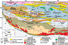Map Of Nepal And Tibet by Cretaceous Tertiary Shortening Basin Development And Volcanism