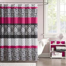 Pink And Gray Shower Curtain by The Mi Zone Gemma Shower Curtain Offers An Edgy Yet Girly Look For
