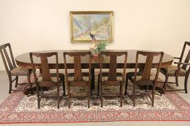 Dining Table Leaves Sold Oak 4 U0027 Round 1900 Antique Pedestal Dining Table 6 Leaves