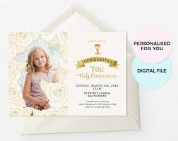 communion invitations communion invites etsy