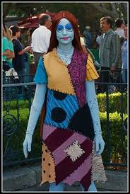 my home made sally costume from the nightmare before