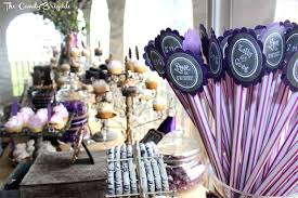Wedding Candy Table Rustic Candy Table Purple Chalkboard Themed