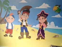 Jake And The Neverland Pirates Curtains Jake U0026 The Neverland Pirates Wall Mural Kids Room Pinterest