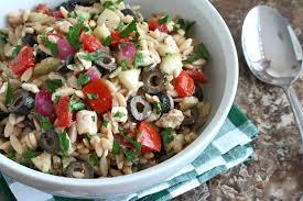 classic pasta salad greek orzo salad the daring gourmet