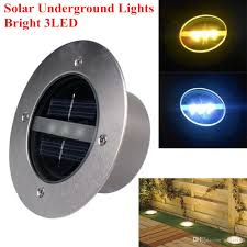 outdoor lawn lights 2018 new solar powered led underground lights 3leds outdoor garden