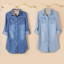 denim blouses aliexpress com buy 2017 fashion cotton