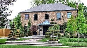 hip roof construction contemporary exterior and brick terrace