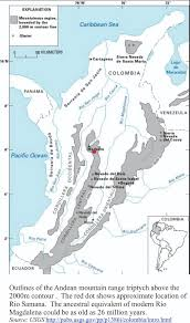 South America River Map by Paddling Colombia Ancient Rivers Over Granite Geological