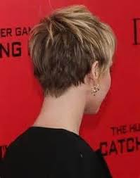 hair styles for back of hairstyles for round faces jennifer lawrence short hair back view