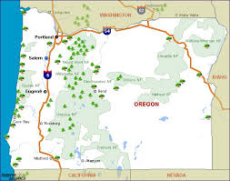 Oregon national parks images Oregon national parks map oregon map jpg