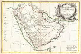 Arabian Desert Map Vintage Maps Of The Arabian Peninsula International History Blog