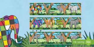 Elmer The Patchwork Elephant Story - elmer david mckee display primary resources story page 1